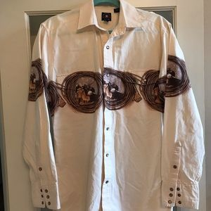 Panhandle Slim Western Snap Button Down
